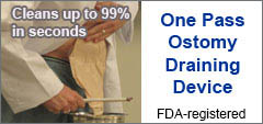 One Pass Ostomy Draining Device - OPODD
