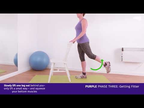 Purple Phase Three: Standing Leg Lifts