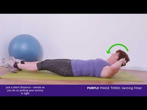 Purple Phase Three: Straight Leg Curl Ups